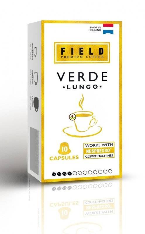 Капсулы Field Lungo Verde 10 шт