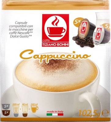 Капсулы Bonini Dolce Gusto Cappuccino 5+5 шт
