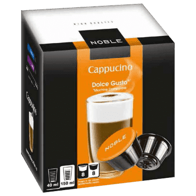 Капсулы Noble Dolce Gusto Cappuccino, Капучино 8+8 шт