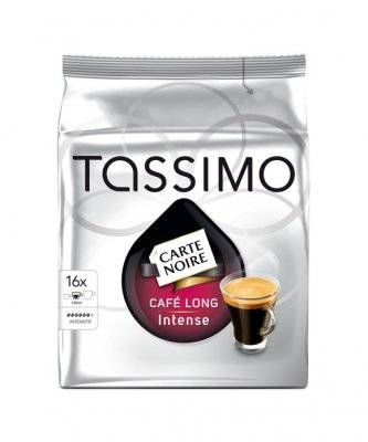 Капсулы Tassimo Carte Noire Cafe Long Intense, Тассимо Карт Нуар Лонг Интенс 16 шт