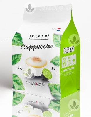 Капсулы Field Dolce Gusto Cappuccino 8+8 шт