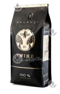 Элитный молотый кофе Coffee BO TWINS GOURMET RWANDA ARABICA Bourbon in cup 500 гр
